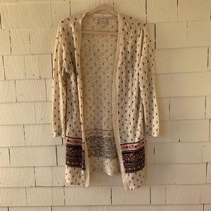 American Rag Boho Print Open Front Cardigan |
